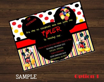 Mickey Mouse Birthday Invitation, Oh Toodles, Printable Invitation