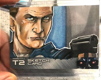 T2: 25th Anniversary Terminator 2 T1000 Artist Sketch Card