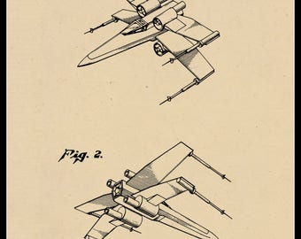 X-wing Fighter Patent #D254080 dated Jan. 29, 1980.