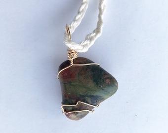 Polished Michigan Stone Pendant