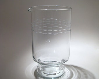 Vintage Etched Mixing Glass  - Martini Pitcher