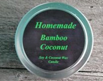 Bamboo & Coconut 4oz 100% Soy and coconut wax candle