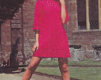PDF crochet dress vintage crochet pattern pdf INSTANT download pattern only pdf tunic dress