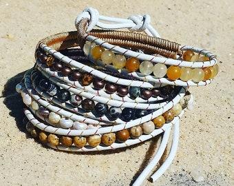 Sand Dunes and Sunshine 5 Wrap Bracelet