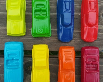 Toy Car Crayons set of 8 - Car Party Favor - Cars Party - Kids Party Favors - Cars Gift - Kids Gift - Birthday Party Favors - Gifts For Kids