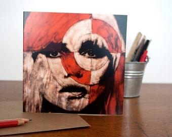 Blondie Greetings Card - Blank Pam Glew Greetings Card