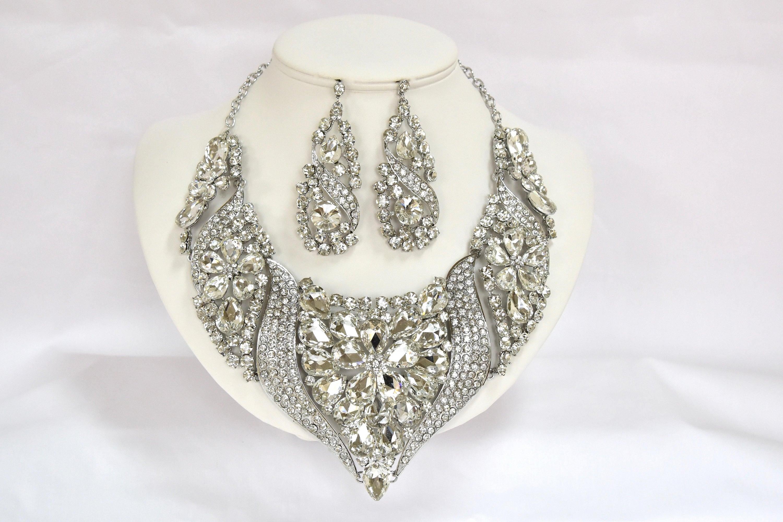Crystal Bridal Jewelry Set Vintage Inspired Crystal Wedding Jewelry ...