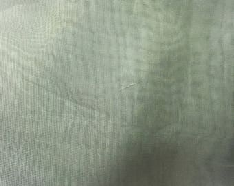 """sheer olive green fabric 4 yards 32"""""""