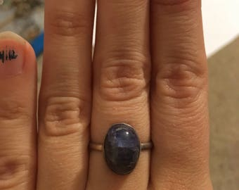 Sterling silver kyanite ring
