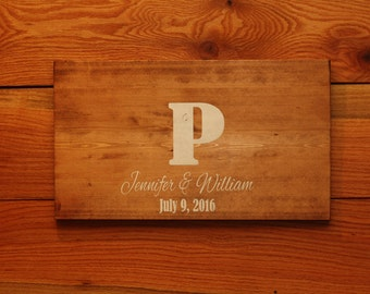 Wooden Wedding Guest Book alternative sign