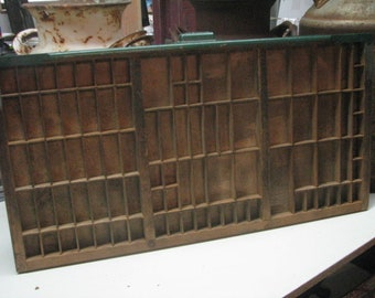 Vintage Printer Drawer,Letterpress Tray. 334