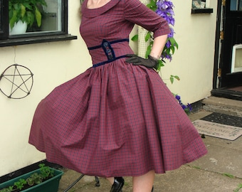 1950s Mad Men/Pin up dress (custom made)