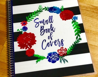 Planner Cover STORAGE *Small Book of Covers* - for up to 10 Covers - for use with Erin Condren Planner Covers
