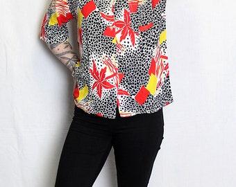 Shirt vintage 90's Red/Black Hawaiian style