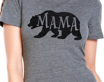 Mama Bear Shirt, Mom Shirt Womens T shirt Mother Day Shirt Wife Shirt Family Shirts Bear tee for Mom