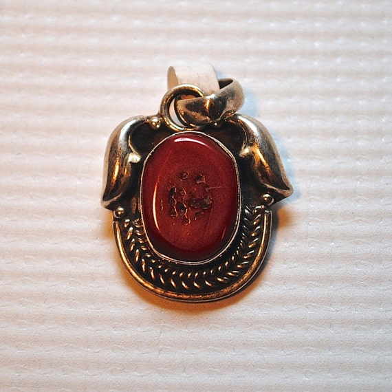Sterling Silver Coral Pendant #3861
