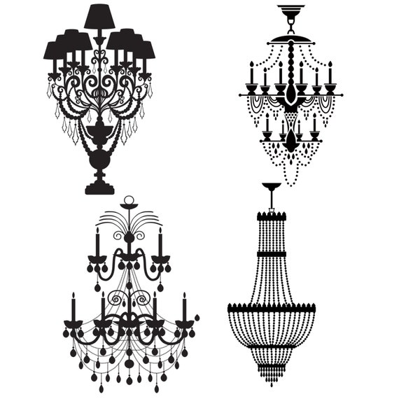 Chandelier silhouette clip art black chandelier wedding invitation this is a digital file aloadofball Image collections