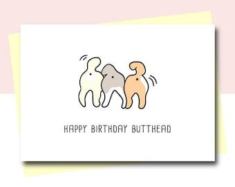 Funny Birthday Card, Funny Birthday Card for Friend, Animal Card, Dog card, Dog Birthday card, Brother Birthday card, sister birthday card