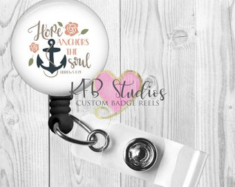 Hope Anchors The Soul Retractable Badge Reel