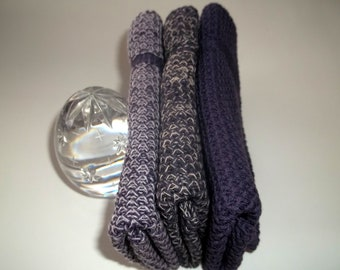 Dishcloths Knit in Cotton, Eggplant, dishcloth, wash cloth, dish cloth,