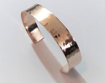 Hammered Bronze Cuff Bracelet Anniversary Gift Ideas For Wife.Elegant Modern Timeless Classic Jewelry .Minimalist Hand Forged Bronze Cuff
