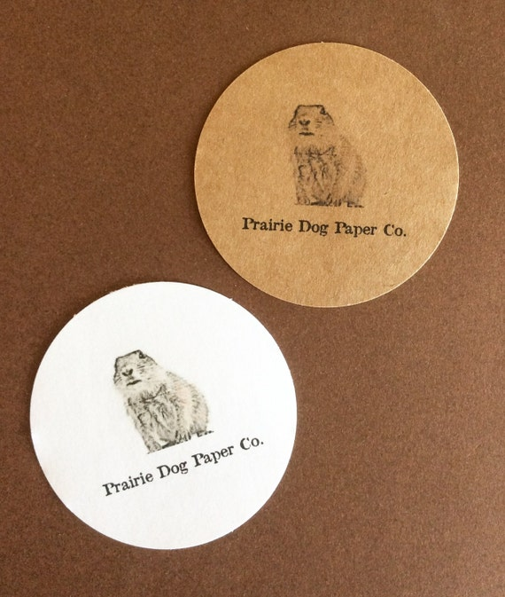Stickers circle business stickers logo sticker personalized tags set of 24 custom from prairiedogpaperco on etsy studio