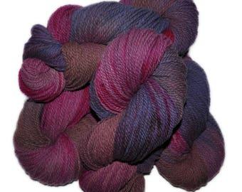 Hand dyed yarn - Columbia Wool yarn, Worsted weight, 170 yards - Lofn