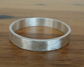 Sterling Silver 7mm wide children's bangle - Made to Order