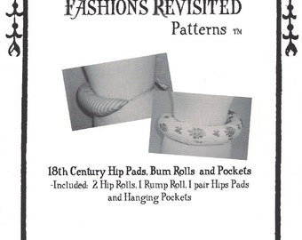 bc5b8ae99 18th Century Colonial Era sewing pattern for Hip pads