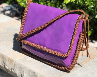 Louis Vuitton Thompson Purple Upcycled