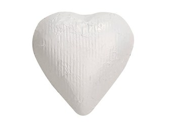 Sweetworks Hearts Solid Milk Chocolate Candy - White - 1 LB Bag
