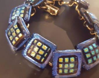 Dichroic Glass Multicolor Bracelet