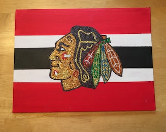 Chicago Blackhawks Glittler Canvas