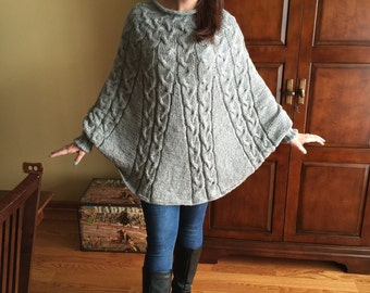 Hand knitted Poncho sweater