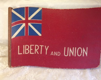 Vintage British Flag Union Jack Wood Wall Hanging