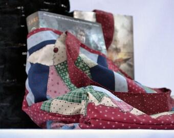 Rustic country tote bag, shoulder bag, beach bag, market tote, shoulder bag, book bag, craft bag, accessory bag, quilt pattern tote bag