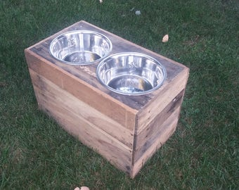 """12"""" Tall Dog Bowl Stand"""