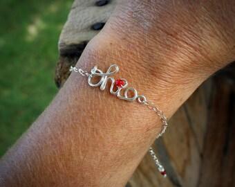 Sterling SCRIPT OHIO Bracelet, Script Ohio Jewelry, OSU, Ohio State Bracelet, Unique Ohio State Jewelry, Ohio State Buckeyes Jewelry