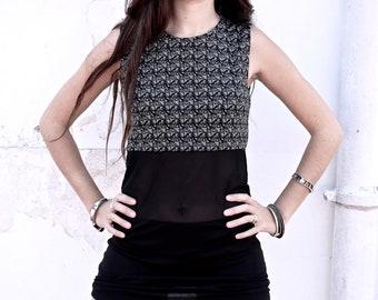 Casual Underground Dress cotton-elastyc for the Woman handmade designer Urban-Ethnic.