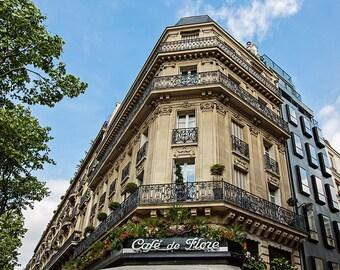 Paris Cafe Photograph, Paris Cafe Photography, Paris Print, Paris Cafe Decor, Paris Apartment, Wanderlust Paris Wall Art - Cafe de Flore