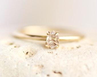Gold Herkimer Diamond Ring. Herkimer Ring. Herkimer Diamond Ring. Herkimer Diamond Engagement Ring. Gold Herkimer Ring