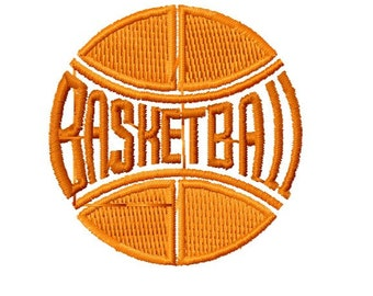 Basketball  Machine Embroidery Design, Instant Download, 4x4 Hoop Size, 4 Formats