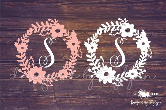 Flower Border Decal Floral Decal Flower Decal Decals