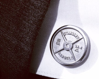 Barbell Plate Cuff Links