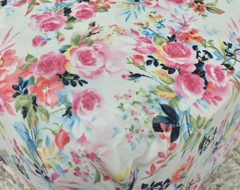 Pink Flowers Fitted Crib Sheet, Fitted Crib Sheets, Vintage Floral Crib Sheet, Baby Crib Sheets, Baby Girl Pink Crib Sheets, Vintage Nursery