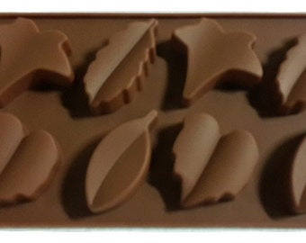 Taavi Fall Leaves Silicone Mold (Candy, Chocolate, Ice cubes, Finger Jello, Wax/Crayon Shapes) (T806)