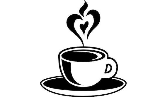 Coffee Cup 4 Heart Steam Java Roasted Brew Mug Tea Drink
