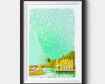 MOONRISE KINGDOM Painting Poster | PRINTS | #M46
