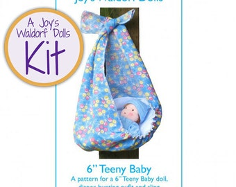 Joy's Waldorf Dolls Kit Teeny Baby Doll Making Kit - PINK GOWN + HAT