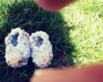 Handmade Knitted Baby Booties.